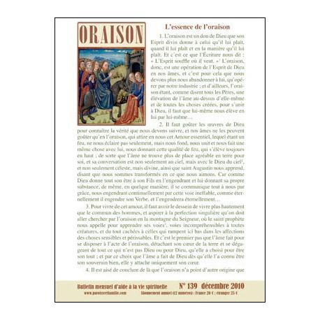 Bulletins Oraison 2009 (Fichiers Zip & Pdf)