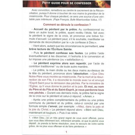 Petit guide pour se confesser Pack de 100 ex